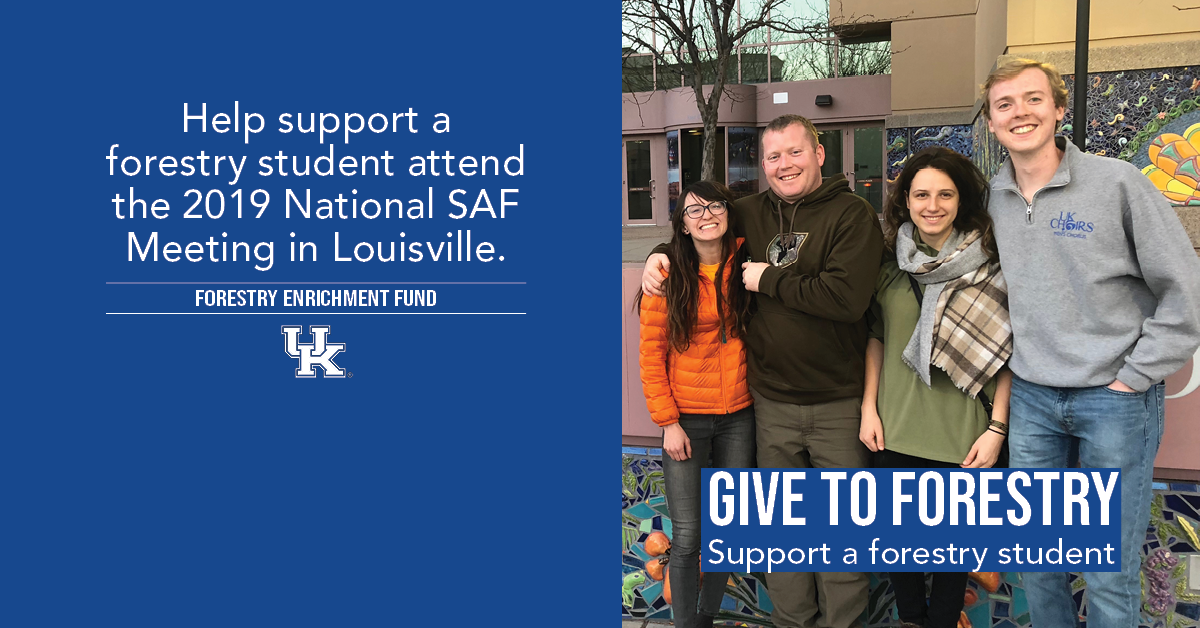 Help support a forestry student attend the 2019 National SAF Meeting in Louisville.