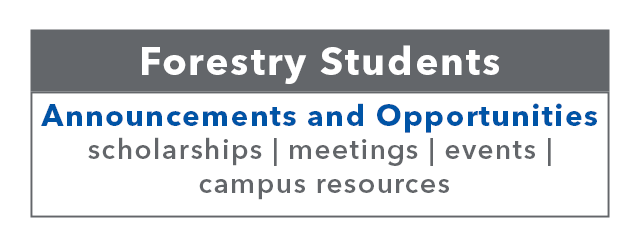 Link to Undergraduate Forestry – Announcements and Opportunities