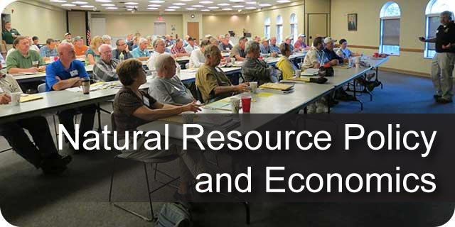 Natural Resource Policy and Economics
