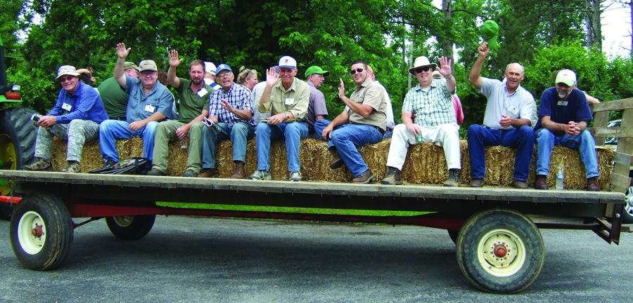 WOSC Participants take wagon ride.