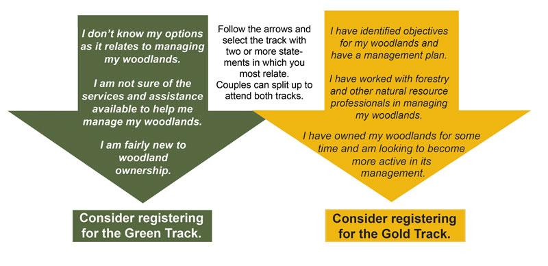 WOSC choices Green or Gold Track?