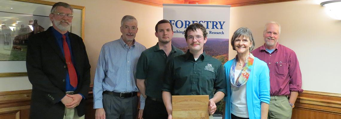 Photo of first Forestry Alumni Scholarship Recipient