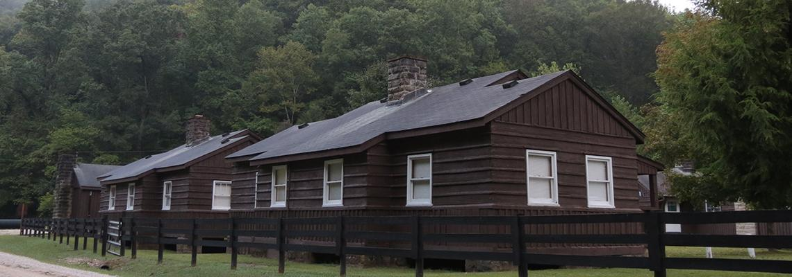 Photo of the cabins at Robinson Forest