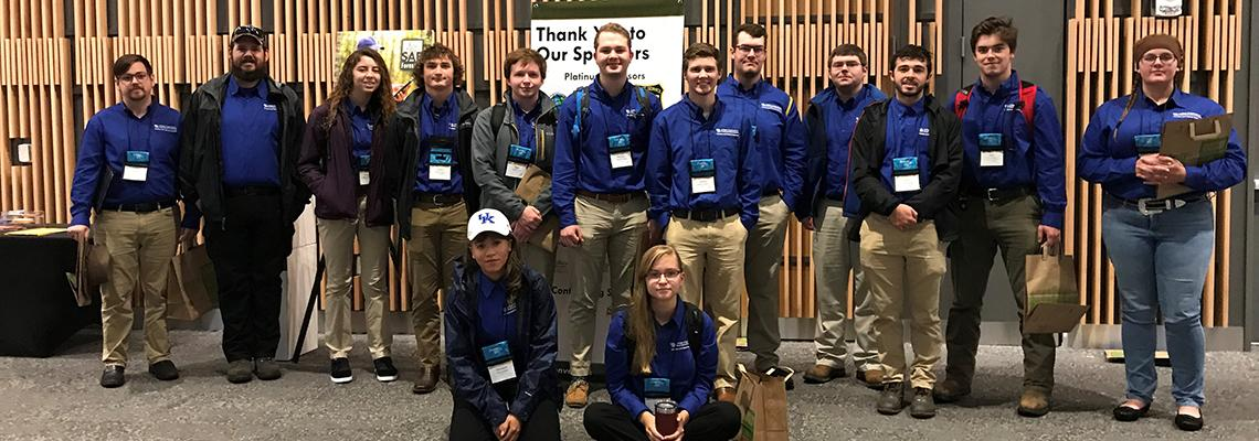 Photo of UK Forestry Students at the 2019 SAF National Convention