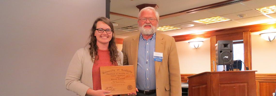 Forestry Alumni Scholarship Recipient 2018