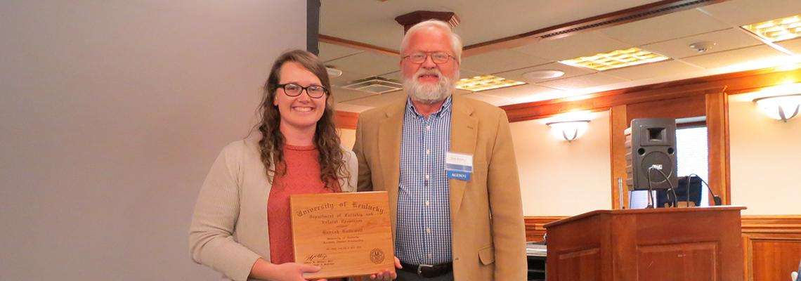 Forestry Alumni Scholarship Recipient 2018