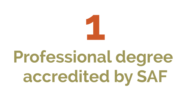 Only one professional degree program accredited by the Society of American Foresters in Kentucky.