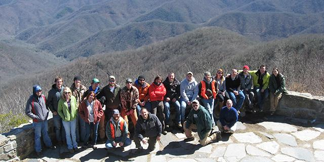 Spring field semester students travel to North Georgia for one of their weeks learning about silvicultural practices.