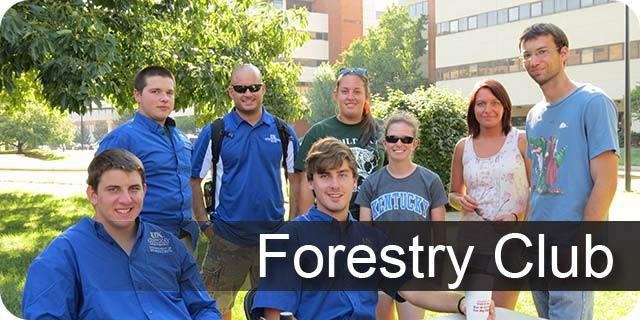 Photo of UK Forestry Club members