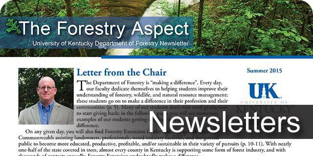UK Forestry Department newsletter and Forestry Extension E-News publications