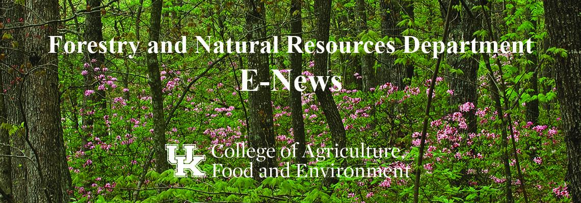 Image of the Forestry and Natural Resources Department E-News