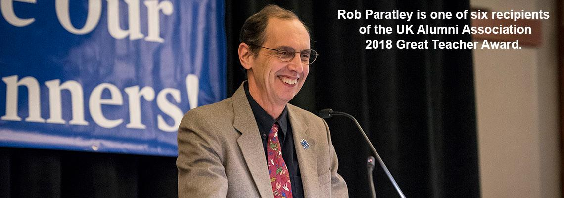 Rob Paratley is one of six recipients of the UK Alumni Association 2018 Great Teacher Award. Photo by Tim Webb.
