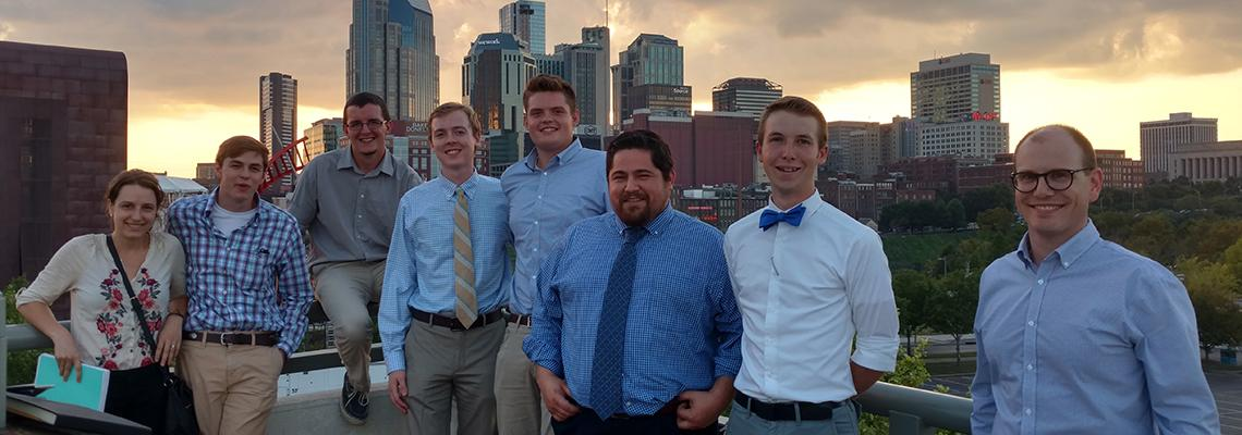Photo of UK Forestry students at SAF's Music and Mentoring meeting in Nashville