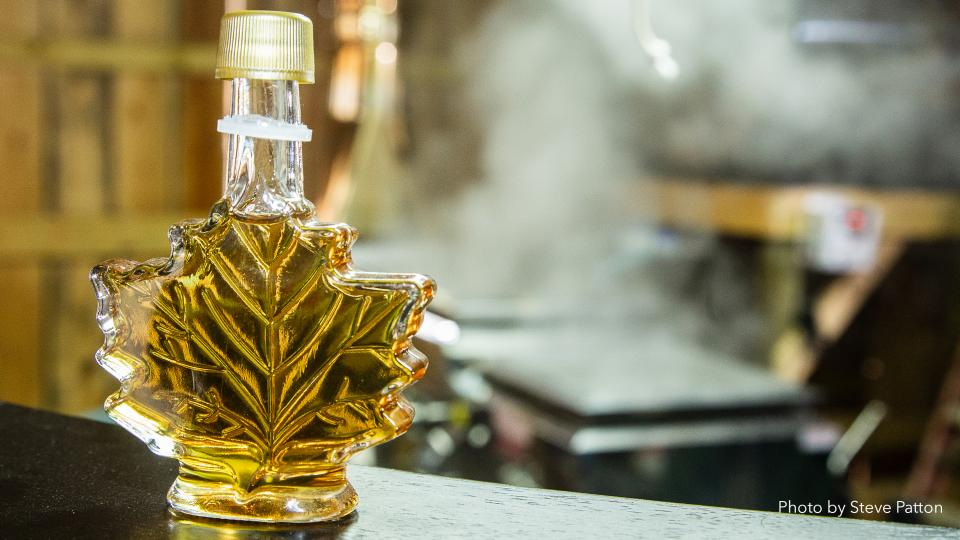 Photo of maple syrup. Photo by Steve Patton.