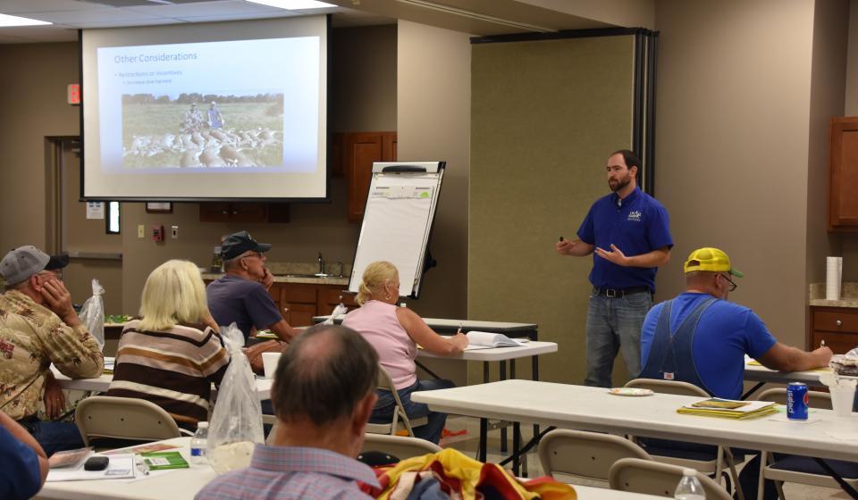 Photo of Matt Springer at an Extension event
